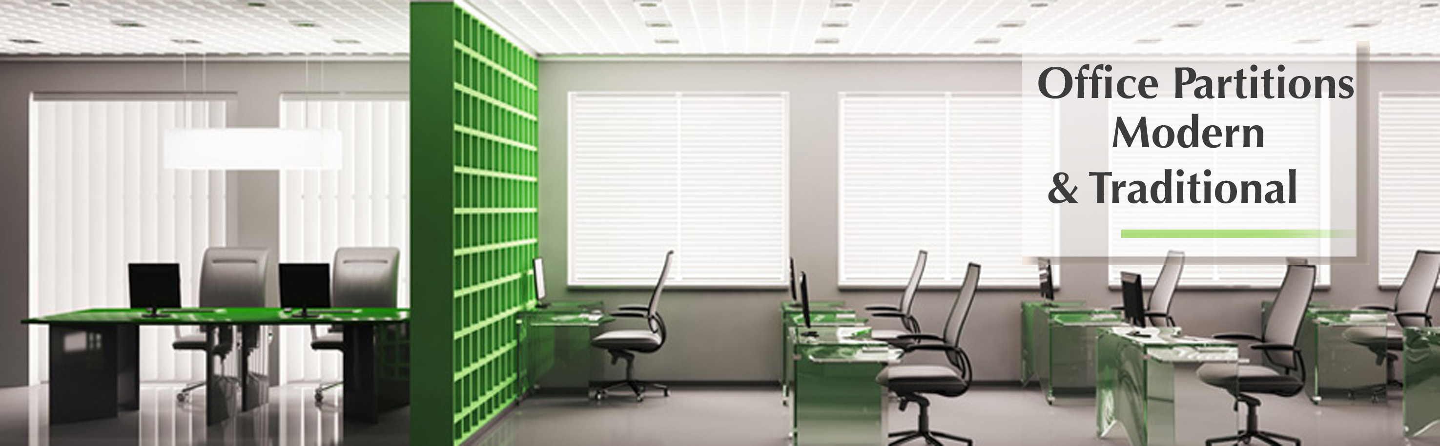 Office Partitions Banner